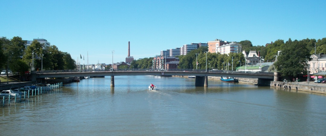 Why not take a relaxing boat ride? The beautiful river Aura runs right by our hostel.