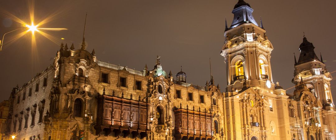 Stay in the capital city Lima, spend the day visiting the beautiful baroque Lima Cathedral and the Plaza Mayor.