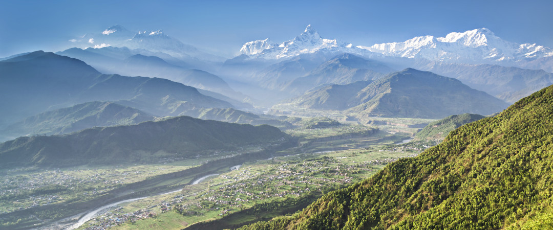 Visit Pokhara and stay near three of the worlds largest mountains Dhaulagiri, Annapurna and Manaslu, see the incredible Himalayas first hand