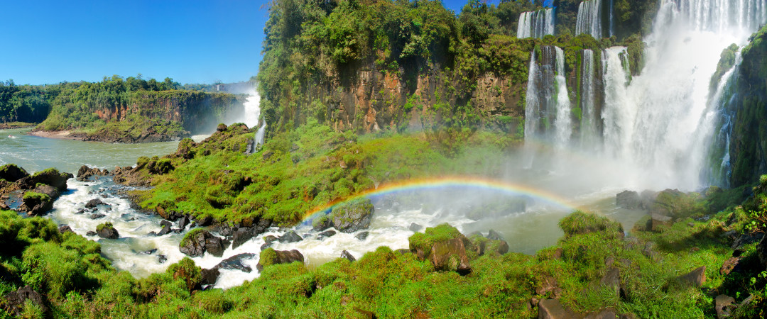 The mighty Iguazu Falls are listed on the New Seven Wonders of the Natural World - feel the spray on your face as you see them up close.