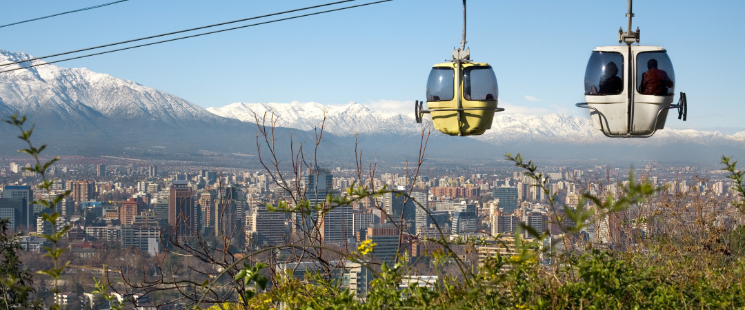 Hop on a cable car and take in the stunning views of Santiago city - a great opportunity to catch the sunset over the mountains.