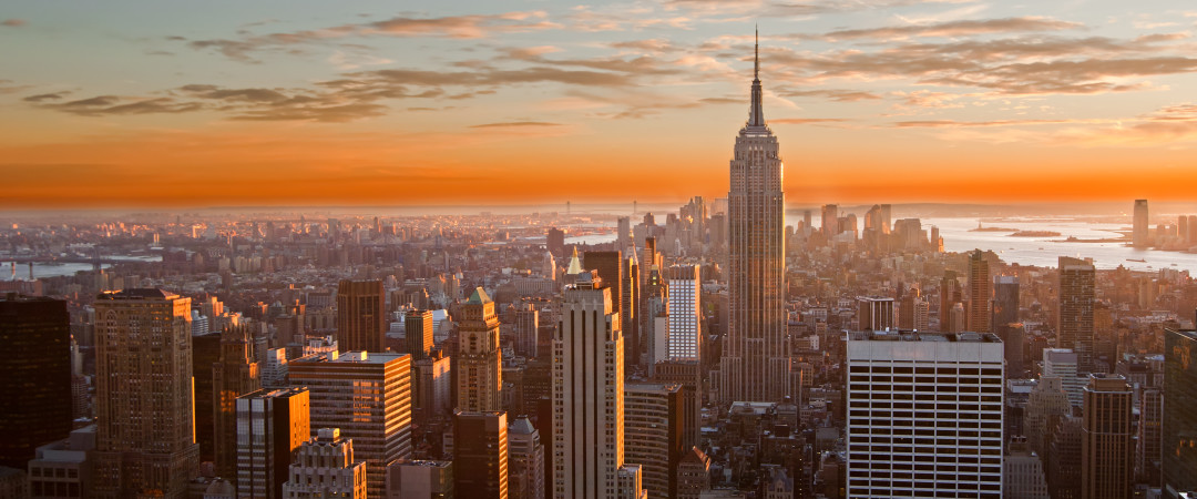 Watch the sun set over one of the most awe-inspiring skylines in the world.