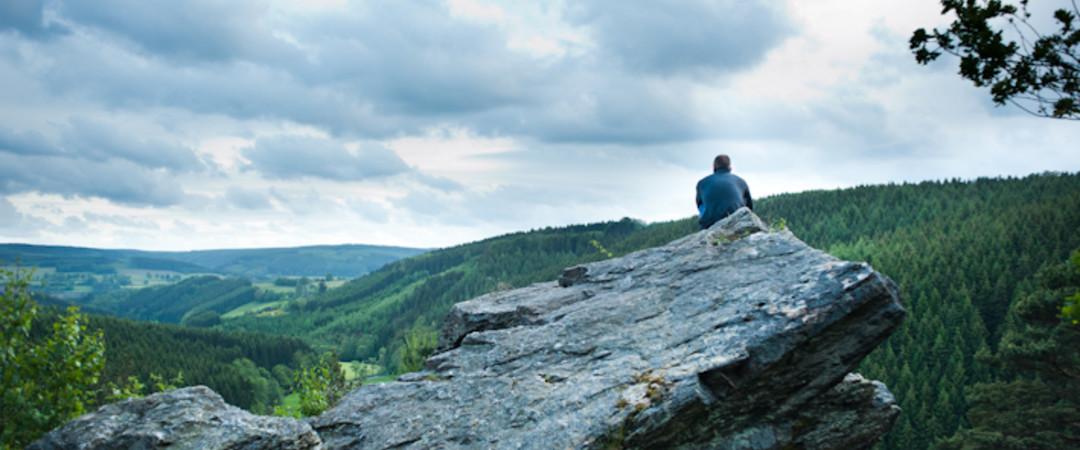 Un splendide panorama de la région des Hautes-Fagnes
