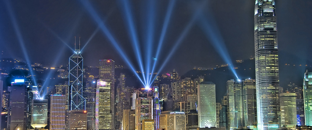 Catch the Symphony of lights show in the Tsim Sha Tsui Promenade - the words most dazzling skylike!