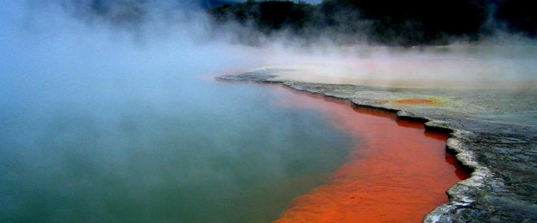 Experience the beautiful mud pools and hot springs of Rotorua.