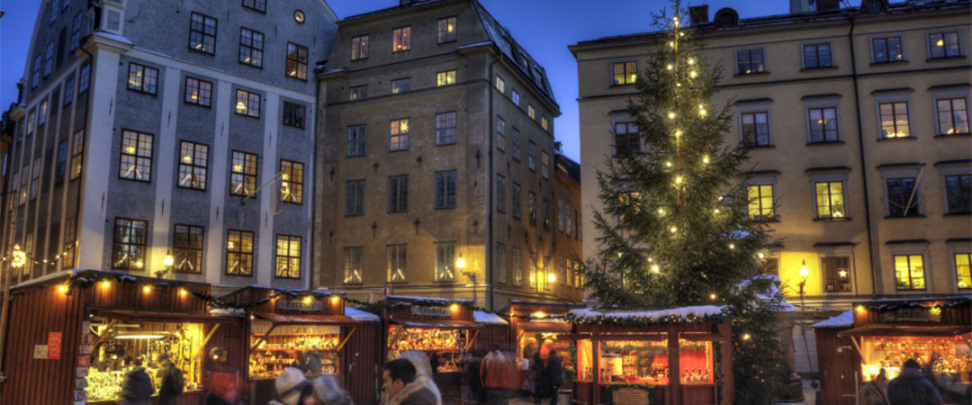 Festive season means markets in frosty Stockholm.