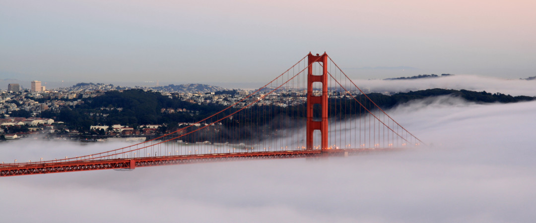 Wake up early to catch one of San Francisco's most romantic sights – a misty sunrise.