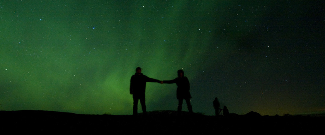 If you're lucky, you might catch a moment with the northern lights at Glymur.