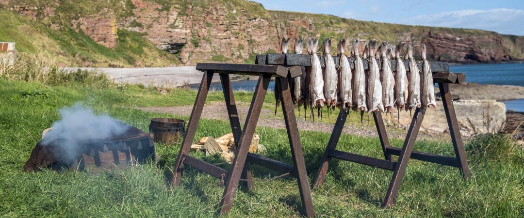 A Escócia é famosa em todo mundo graças à qualidade de salmões, trutas, lagostins e de outros frutos do mar da região.