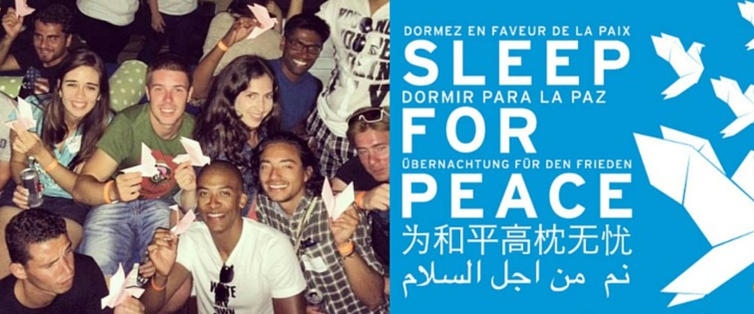 #SleepForPeace in Spain: sometimes, talking to strangers can be a very good thing.