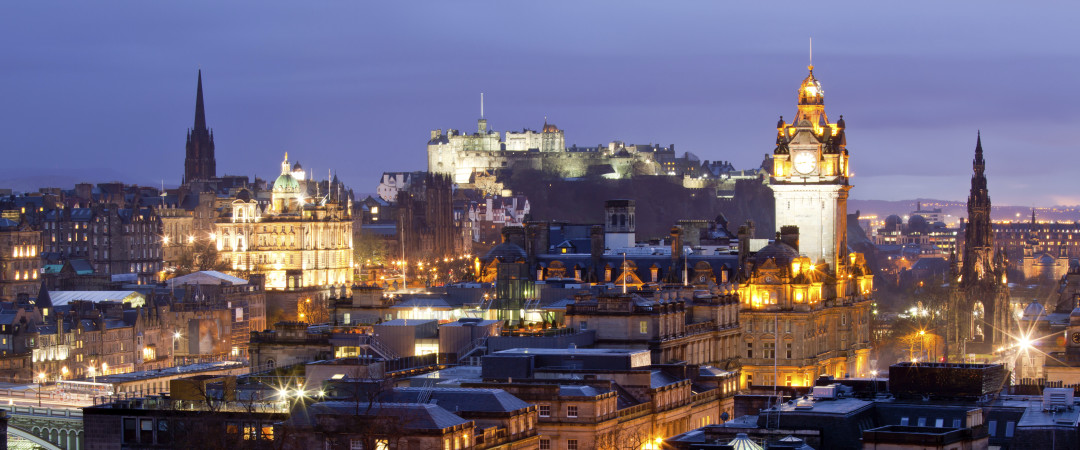 Stay in the heart of Edinburgh and you'll be within walking distance of the stunning Edinburgh Castle.