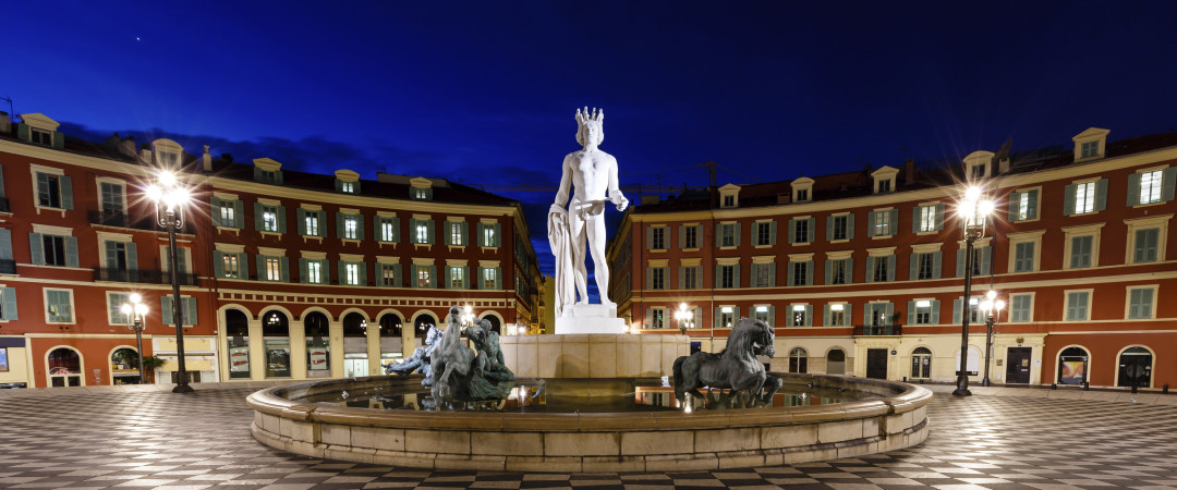 Nice has a rich history, founded by the Ancient Greeks the city's past is still clear in many landmarks including the Triton Fountain.
