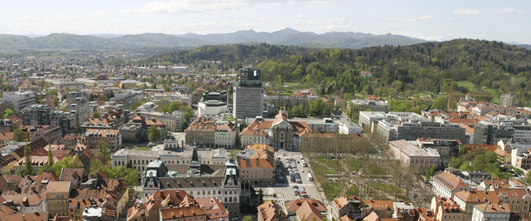 For the best panoramic views of Ljubljana, take a bus ride or go hiking to Smarna Gora hill.