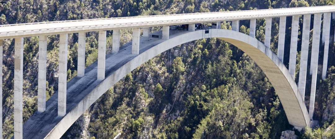 Face your fears by jumping off Bloukrans bridge in the world's highest bungee jump!