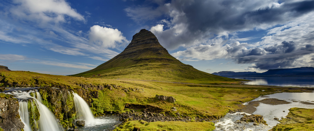Relax and explore the scenic landscapes of Grundarfjörður surrounded by beautiful mountains.