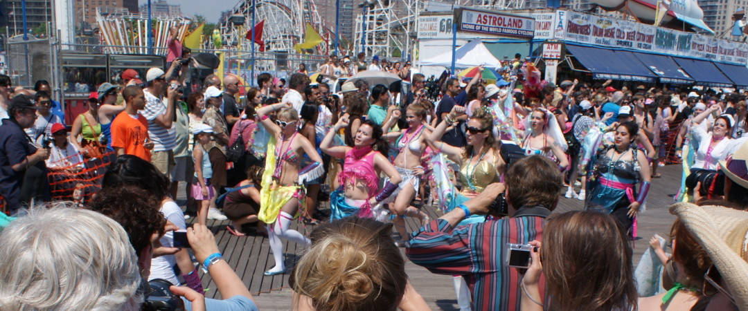 Join the crowds at Coney Island's historic Mermaid Parade and enjoy the largest art parade in the USA.