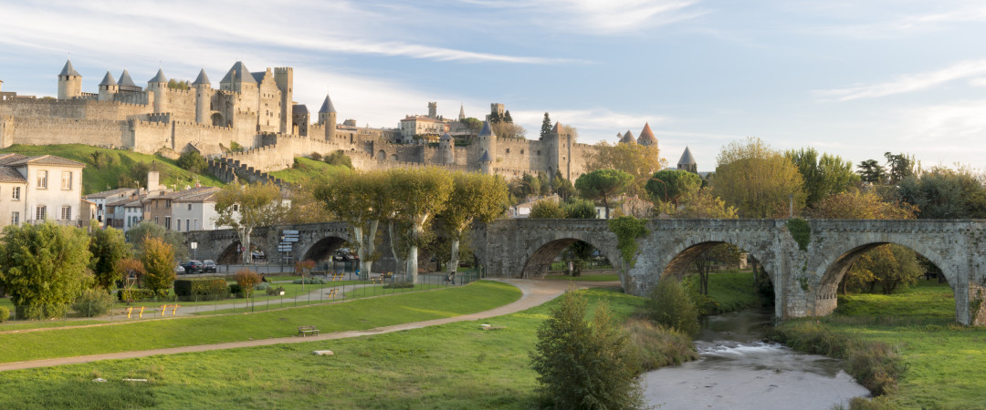 Step back into the labyrinth of walls inside UNESCO World Heritage Site Carcassone. Walk from our hostel to explore the Cité Médiévale.