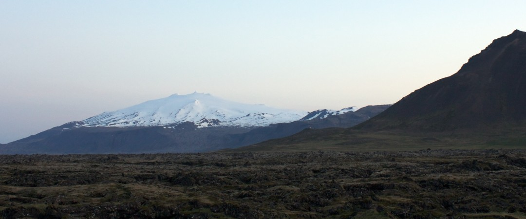 See one of Iceland's symoblic sights covered in snow - the Snæfellsjökull volcano.
