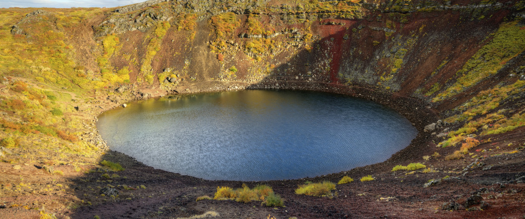 Make a stop at the Kerid Crater where you can enjoy the beautiful landscape.