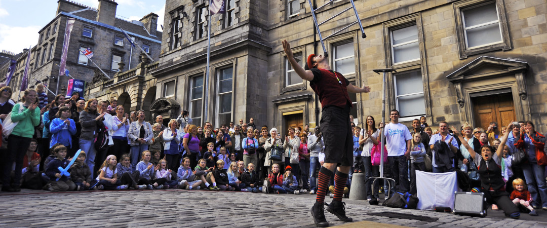 During summer, the streets of Edinburgh are packed with revellers as festival after festival pumps up the atmosphere.