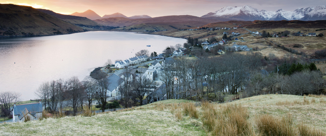 Isle of Skye in the Winter is a perfect place to escape and experience the views of tranquil mountains covered in snow.
