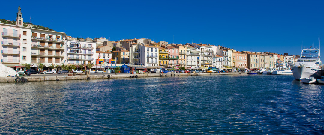 Go down to Sète's canal for the bustling shops, then enjoy the famous French cuisine at a waterside restaurant, and finish in a lively bar.