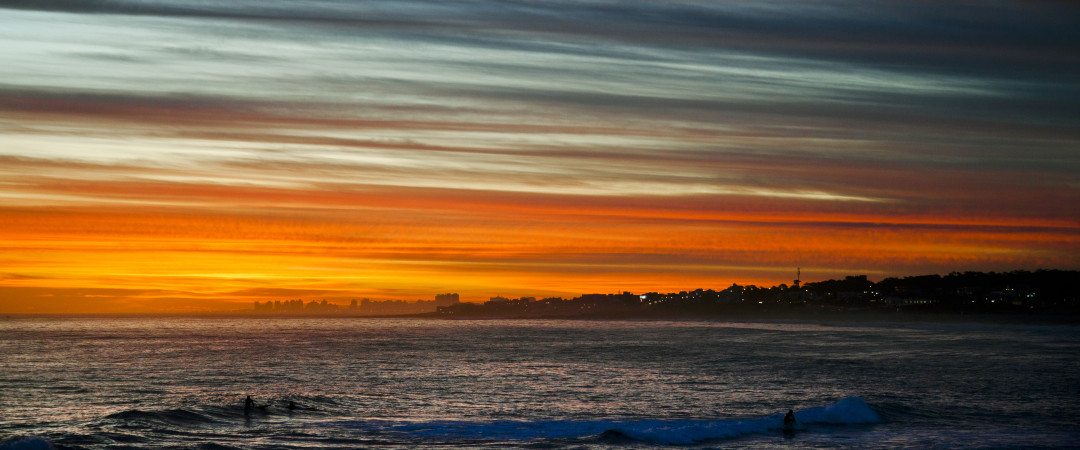 The hostel is located in the heart of Punta del Este so you can see beach sunsets like this and go to the town's other main sights in one day.
