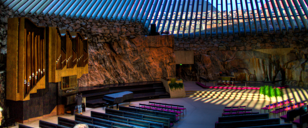 Take a look inside the Temppeliaukio Church for some interesting architecture and design or relax on Hietaniemi beach nearby.