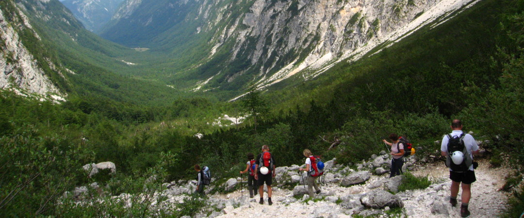 Watch your step while hiking in Triglav National Park – some trails get pretty steep!
