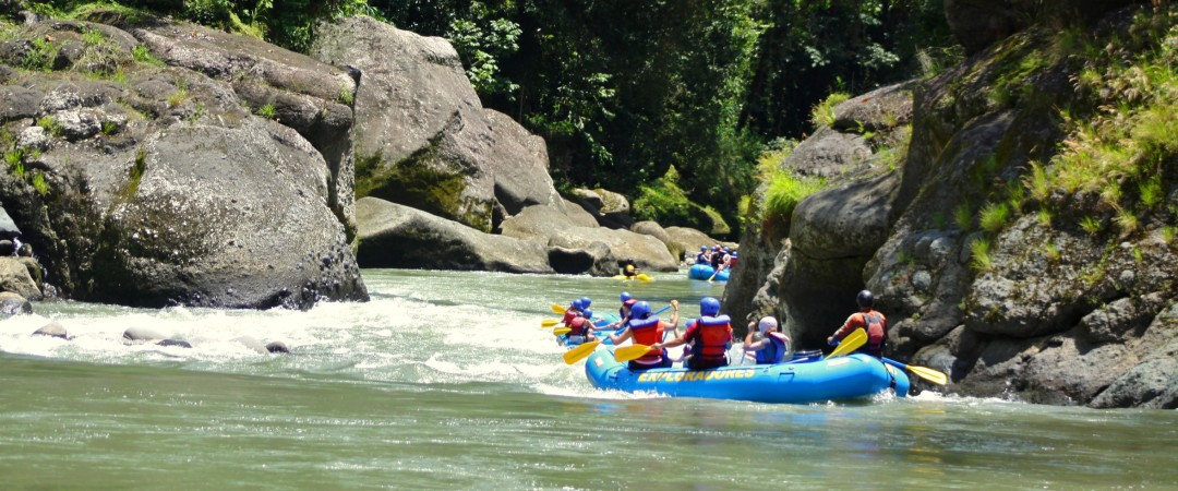 Go on a white-water rafting adventure and paddle through the rapids of the Pacuare River.