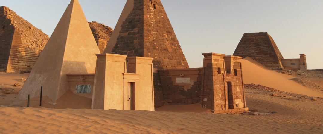 Discover extraordinary Sudan – visit the ruins of the Meroe pyramids and discover the story behind the ancient civilisation.