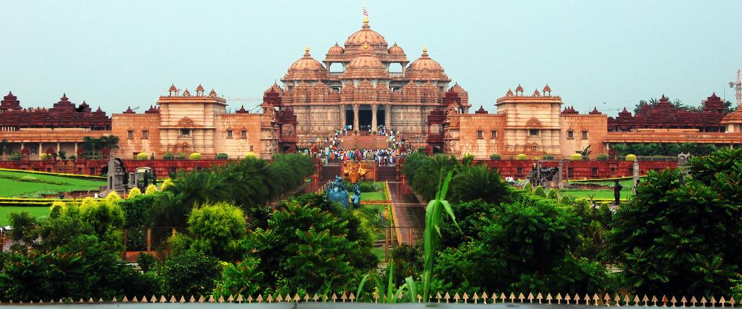 Visita templo hindú, Akshardham, una increíble muestra de cultura y un monumental pieza de arquitectura.