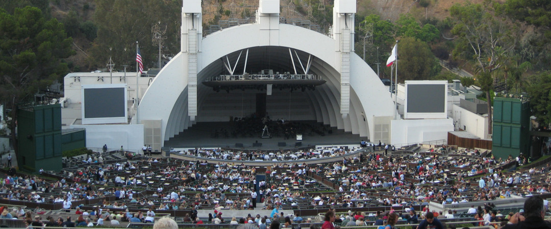 With the Hollywood hills as a backdrop, the Hollywood Bowl puts on some of the biggest and best shows in the States.