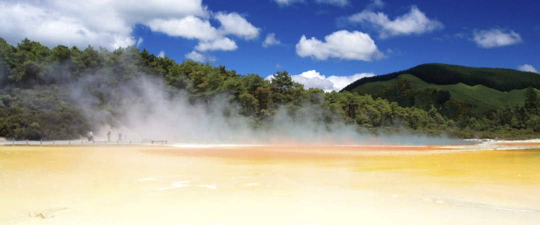 Thermal hot springs in Rotorua