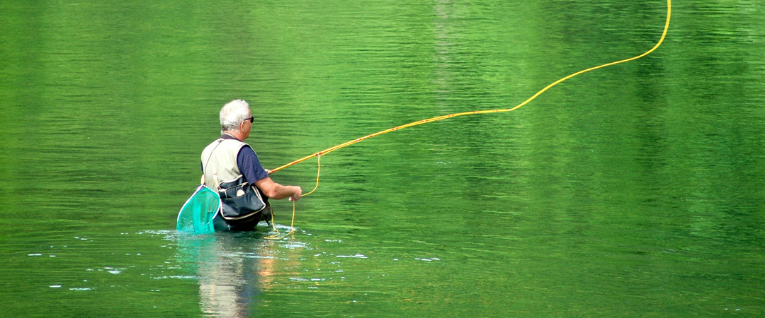 The rich biodiversity of river Kolpa is a paradise for fishermen with over thirty species of fish.
