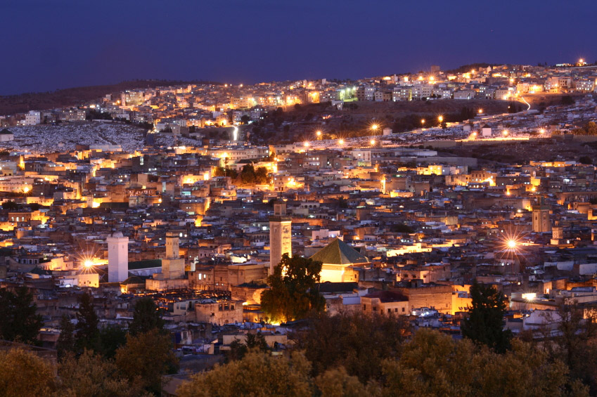 Night time view fez