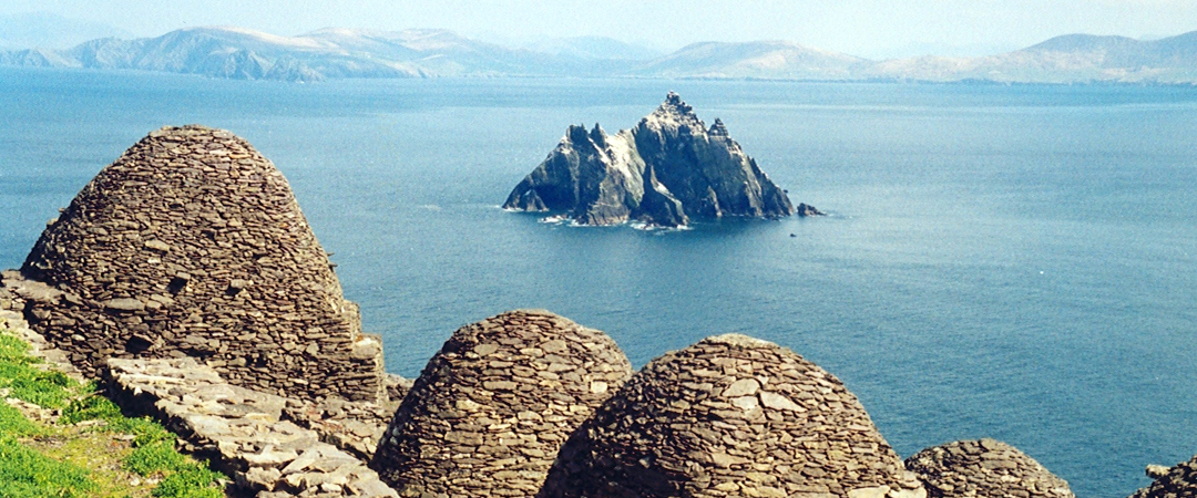Skellig Michael was the island home of 5th century monks. Now only puffins and adventurous tourists visit.