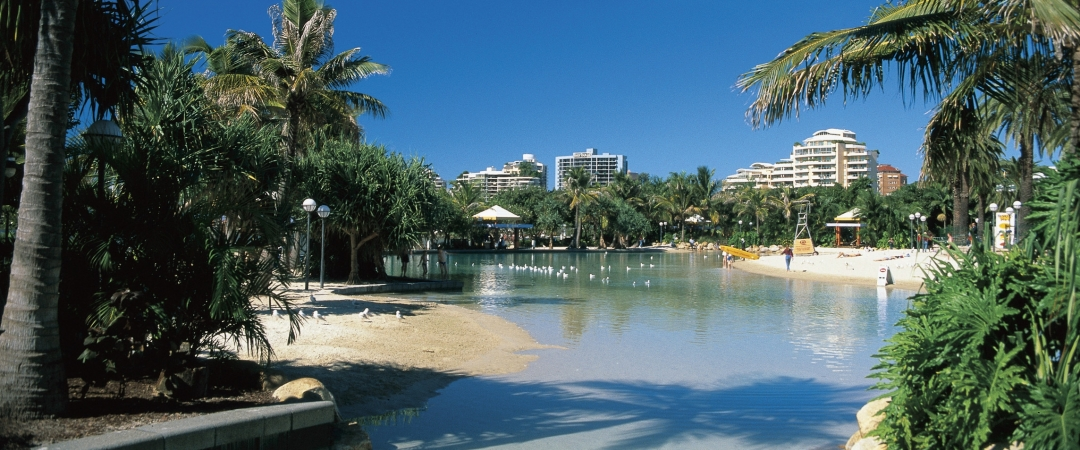 Cool off in the crystal clear waters of South Bank Lagoon.