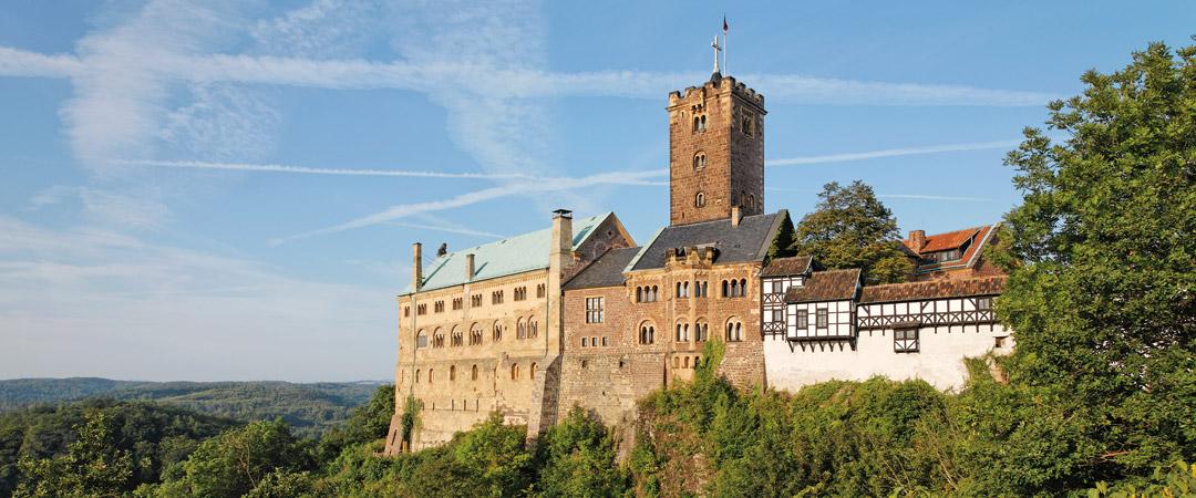 Take a daytrip to the impressive Wartburg Castle in Eisenach, a UNESCO World Heritage Site since 1999.