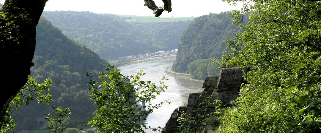 No less than seven youth hostels are located on both sides of the 67-kilometre World Heritage Middle Rhine Valley.