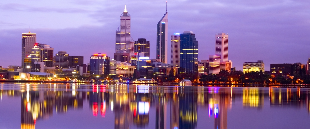 Take an evening stroll and catch the gorgeous reflections off the Swan River