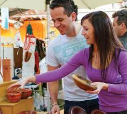 Bargain hunters at the Old Bus Depot Markets