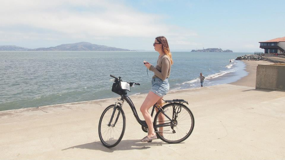 sarah, san francisco, bike