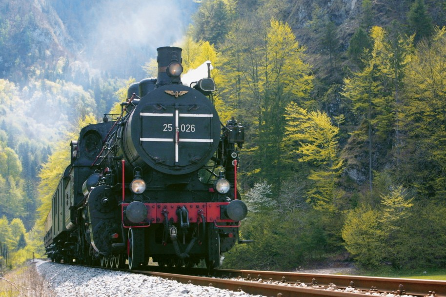 Aboard the Steam Train along the Bohinj railway