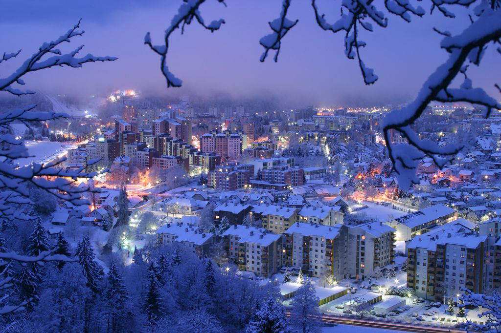 Winter in Velenje and its sourrandings