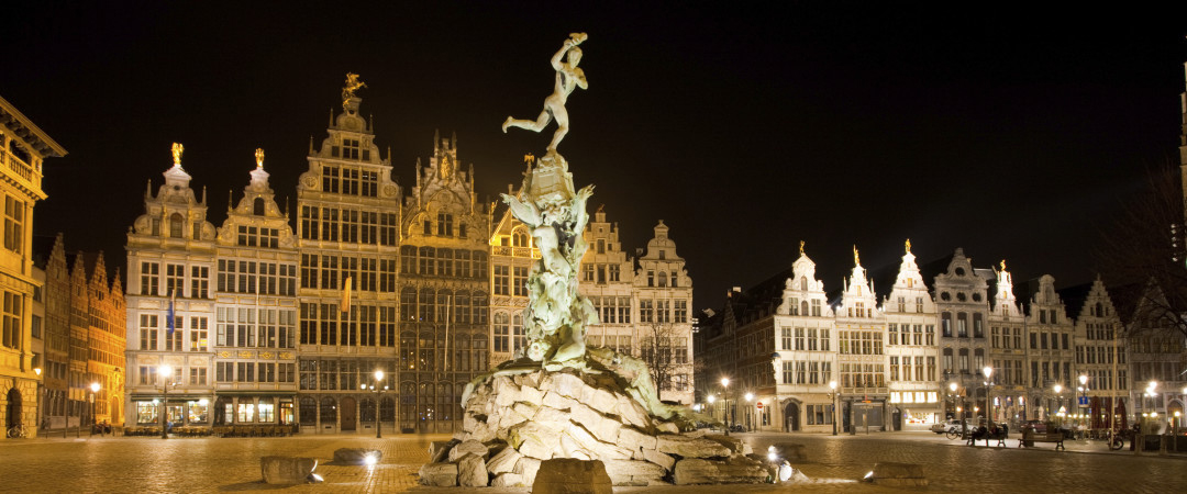 Classic Baroque and Renaissance architecture intermingle with bold modern designs in Antwerp.