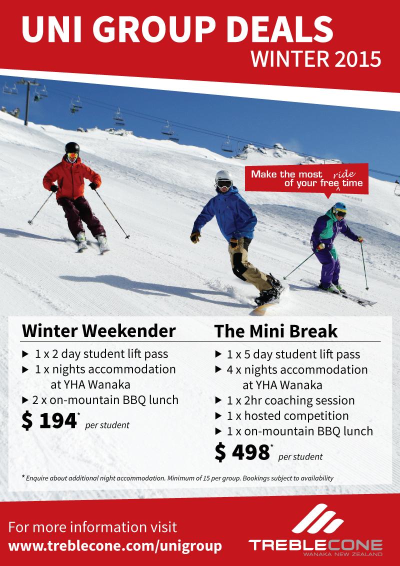 Mini break offer at Treble Cone Ski Area