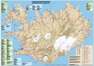 Iceland cycling map