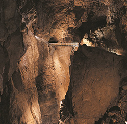 Inside view of Skocjan caves in Slovenia