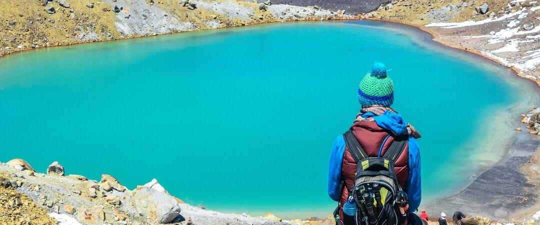 Emerald Lake on the Tongariro Alpine Crossing